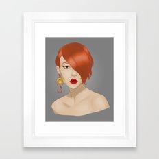 Posh in Space Framed Art Print