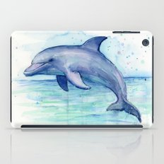 Dolphin Watercolor Sea Creature Art iPad Case