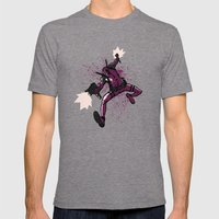 Deadpool Mens Fitted Tee Tri-Grey SMALL