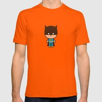 #51 The Bat man Mens Fitted Tee Orange SMALL