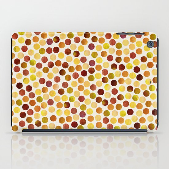 Watercolor Dots_Amber iPad Case