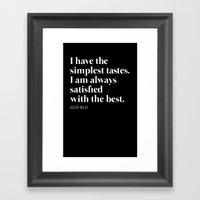 Simply the Best Framed Art Print