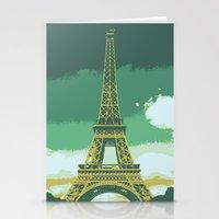 Eiffel Tower Paris Pop Art Stationery Cards