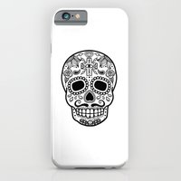 iPhone & iPod Case featuring Mexican Skull - White Edition by T-SIR