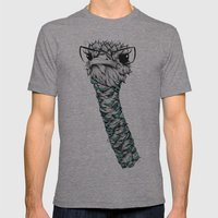 Poetic Ostrich  Mens Fitted Tee Tri-Grey SMALL