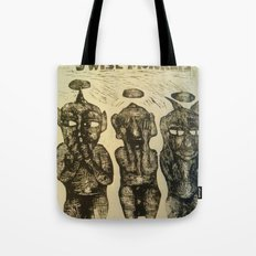 3 Wise Monkeys  Tote Bag