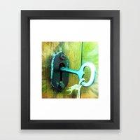 Heart Key Framed Art Print
