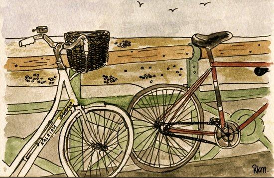 Bicycles in Brighton Art Print
