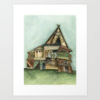 TePee Fort Art Print