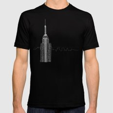 NYC by Friztin SMALL Mens Fitted Tee Black