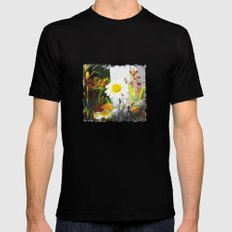 daisies Mens Fitted Tee Black SMALL