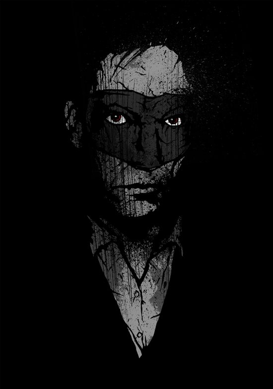 Father Hazard (Red Eyes) Art Print