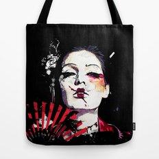Japanese Creepy Geisha Tote Bag
