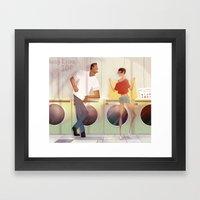 Laundry And Love Framed Art Print