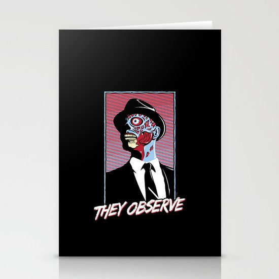 They Observe Stationery Card