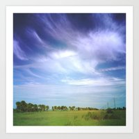 Her Heart Was as Expansive as the Sky Art Print