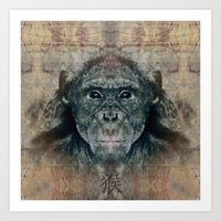 monkey Art Prints featuring Monkey by Zandonai