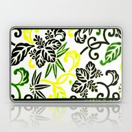 Green & Yellow Japanese … Laptop & iPad Skin