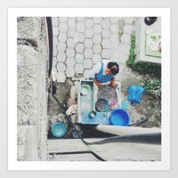Cleaning Beans Mexico Art Print