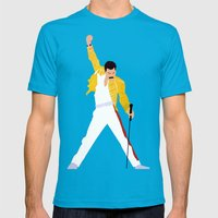 Freddie m Mens Fitted Tee Teal SMALL