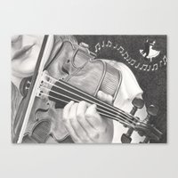 The Note Waltz Canvas Print