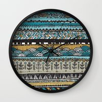 Duck egg and Gold Wall Clock