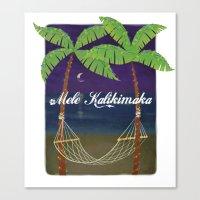 Mele Kalikimaka 2012 Canvas Print
