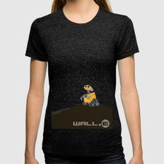 Wall.e Womens Fitted Tee Tri-Black SMALL