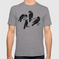 The Raven  Mens Fitted Tee Athletic Grey SMALL