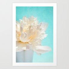 WHITE PEONY-DREAM Art Print