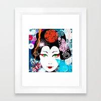 Geisha Queen Framed Art Print