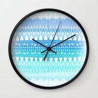 Triangle Gradient Aqua Mix Wall Clock