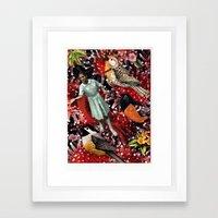 Happy Bird day | Collage Framed Art Print