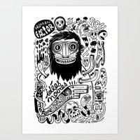 Idées Noires Art Print
