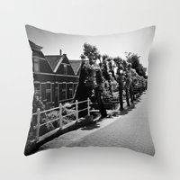 Quiet Street Throw Pillow