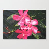 Canvas Print featuring Pink with Words by SmallIslandInTheSun