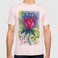 Lotus Mens Fitted Tee Light Pink SMALL