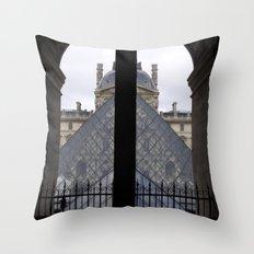 Louvre Pyramid Throw Pillow