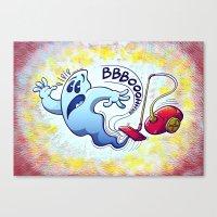 Ghost Vacuum Cleaner Nightmare Canvas Print