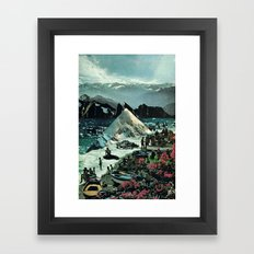 the spirit of the waves... Framed Art Print
