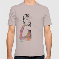 Tribal Girl Mens Fitted Tee Cinder SMALL