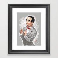 Pee Wee Herman Framed Art Print