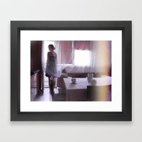 Winking Lights Framed Art Print