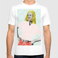 Marilyn Monroe. Mens Fitted Tee White SMALL
