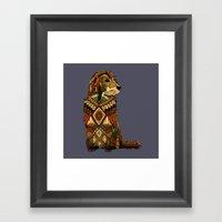Golden Retriever Dusk Framed Art Print