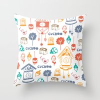 Cuckoo Pattern Throw Pillow
