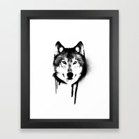Wolf Spray Paint Framed Art Print