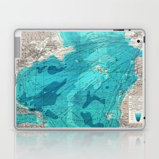 Vintage Blue Transatlantic Mapping Laptop & iPad Skin
