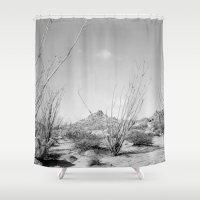 California Ocotillo Shower Curtain