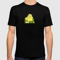 Smiling Buddha Mens Fitted Tee Black SMALL